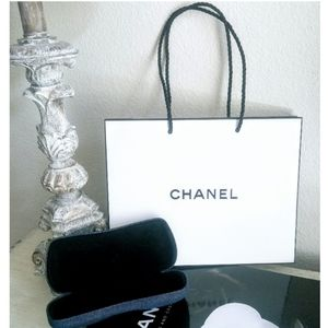 🗼CHANEL Sunglasses/Eyeglasses Case w/Bag & Cloth